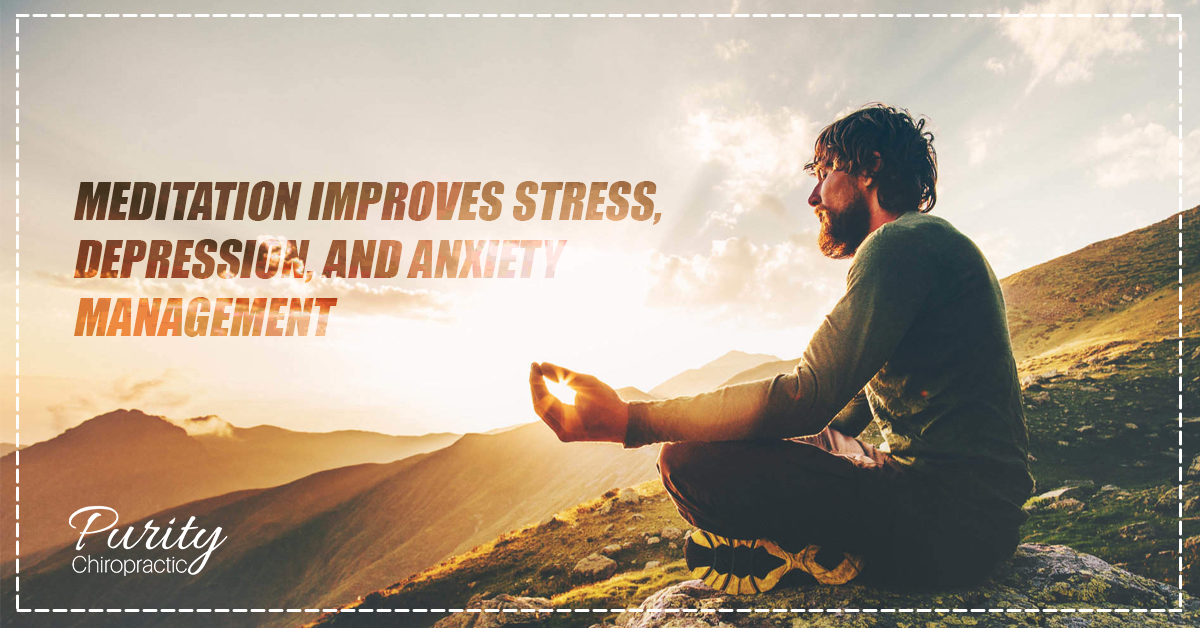 Meditation improves stress, depression, and anxiety management